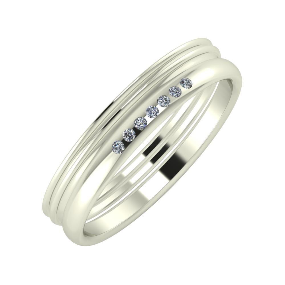 Agrippína - Agrippína - Albertina 4mm 18 karátos fehér arany karikagyűrű