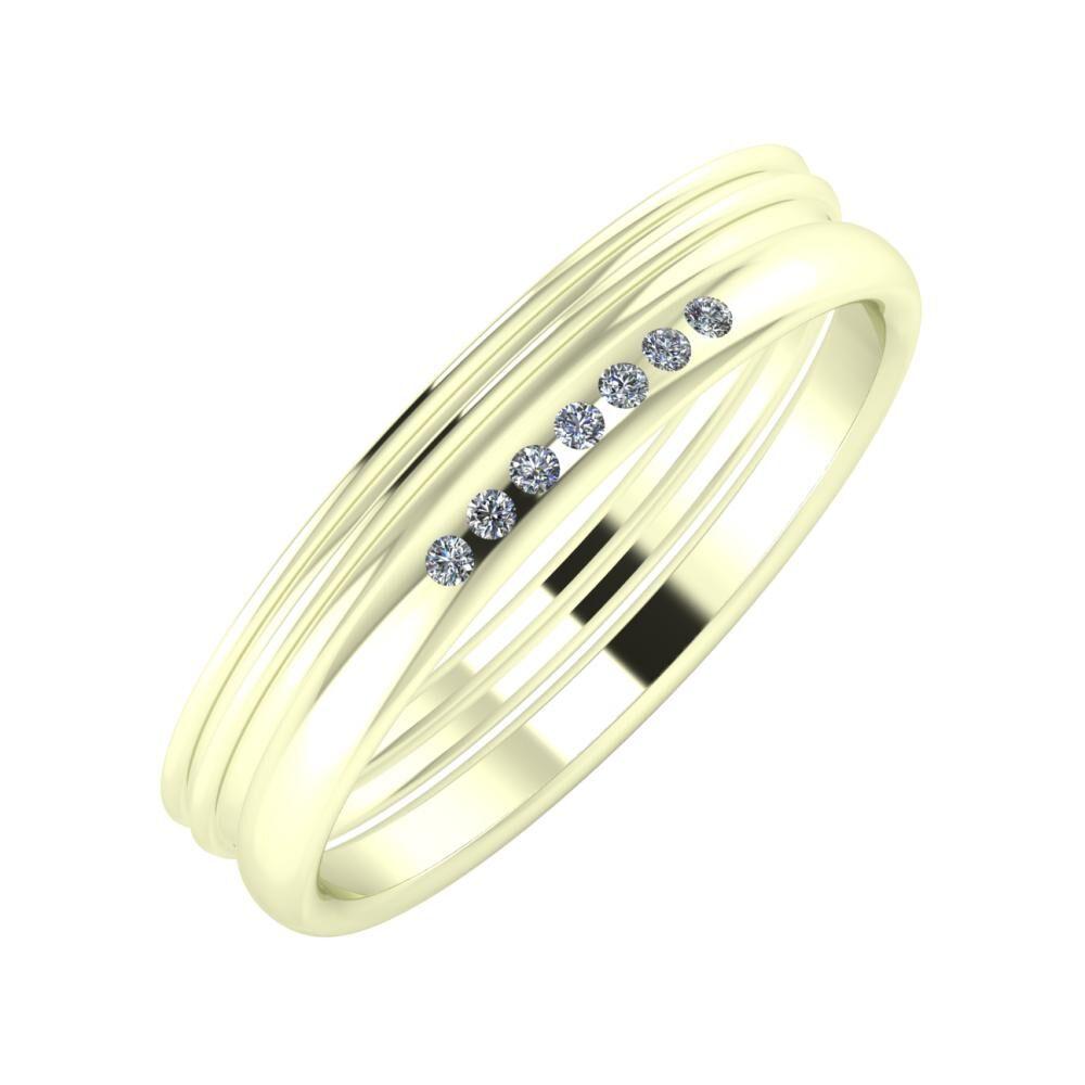Agrippína - Agrippína - Albertina 4mm 22 karátos fehér arany karikagyűrű