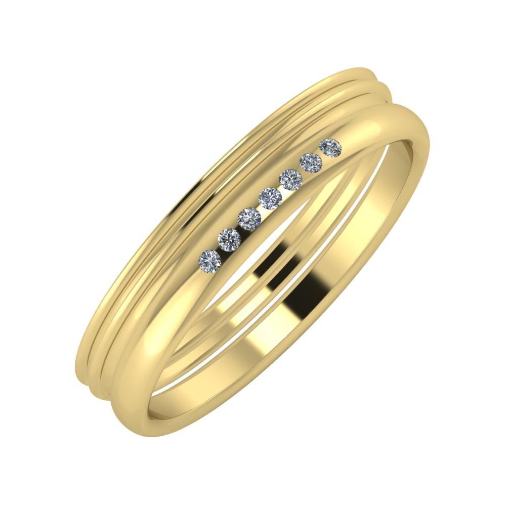 Agrippína - Agrippína - Albertina 4mm 14 karátos sárga arany karikagyűrű