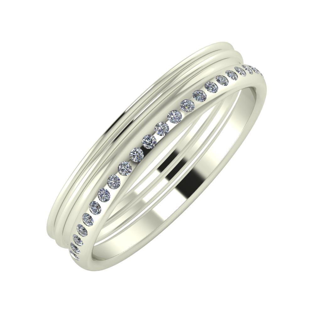 Agrippína - Agrippína - Aldea 4mm 18 karátos fehér arany karikagyűrű