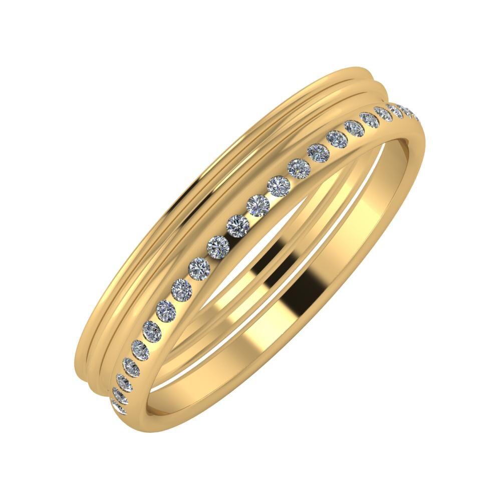Agrippína - Agrippína - Aldea 4mm 18 karátos sárga arany karikagyűrű