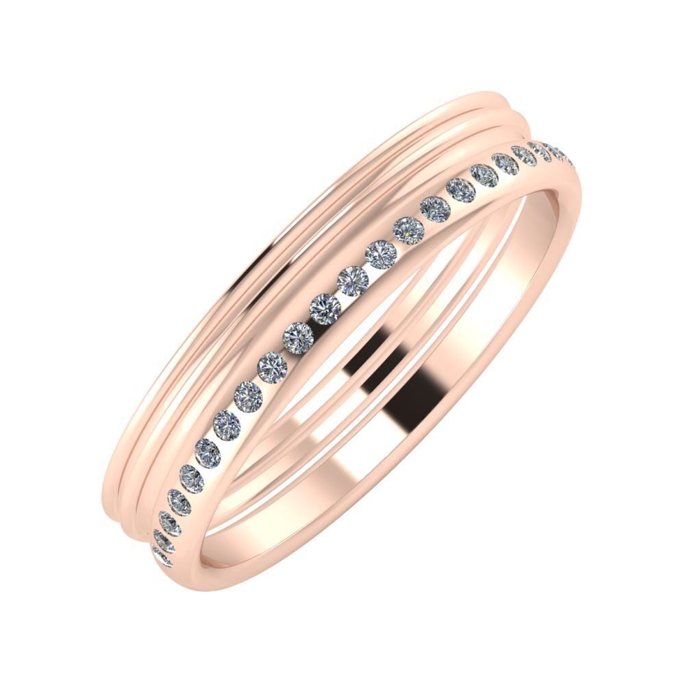Agrippína - Agrippína - Aldea 4mm 18 karátos rosé arany karikagyűrű