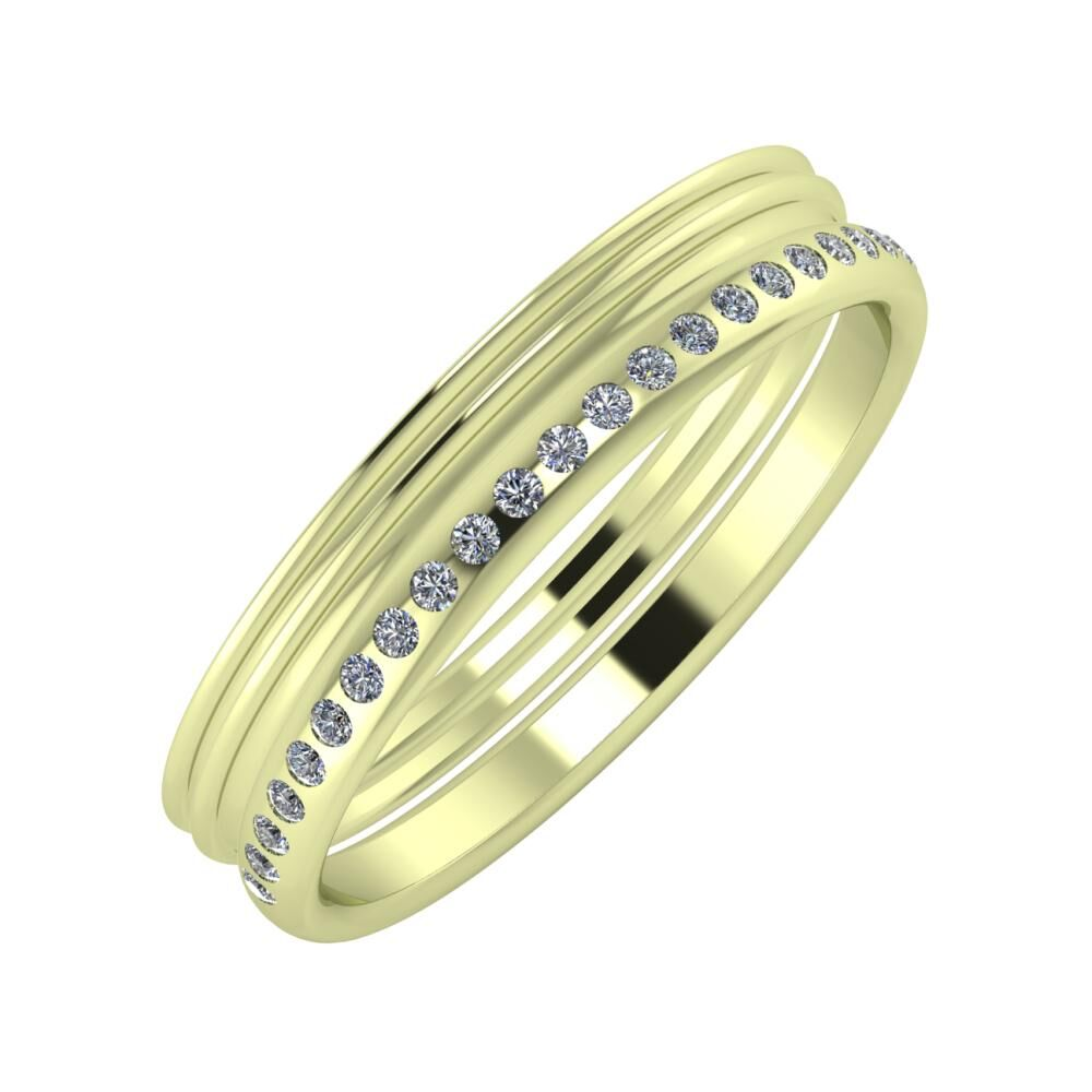 Agrippína - Agrippína - Aldea 4mm 14 karátos zöld arany karikagyűrű