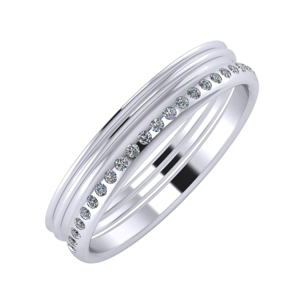 Agrippína - Agrippína - Aldea 4mm platina karikagyűrű