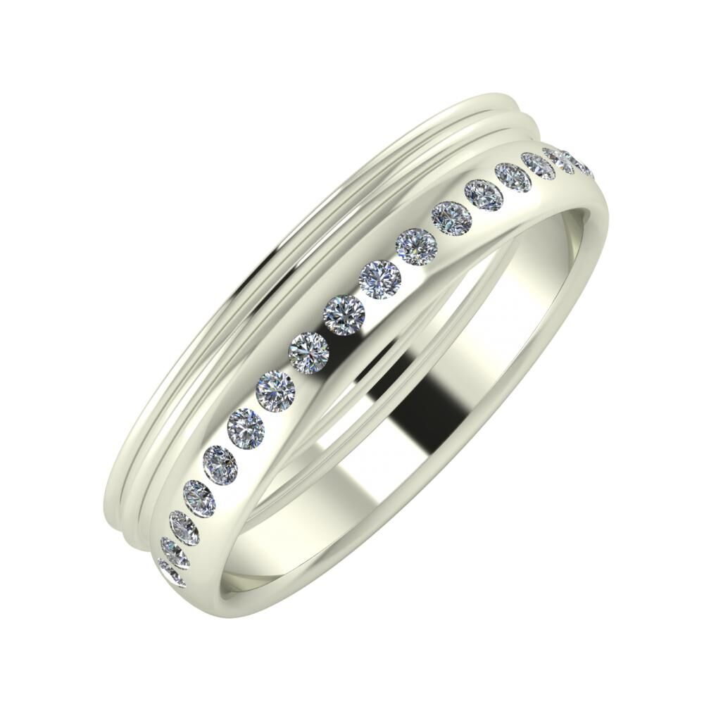 Agrippína - Agrippína - Aldea 5mm 18 karátos fehér arany karikagyűrű