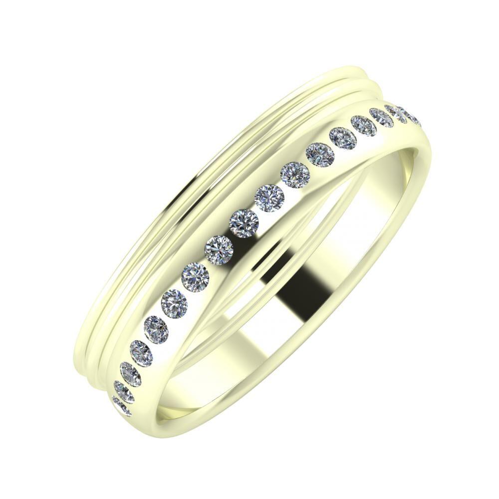 Agrippína - Agrippína - Aldea 5mm 22 karátos fehér arany karikagyűrű