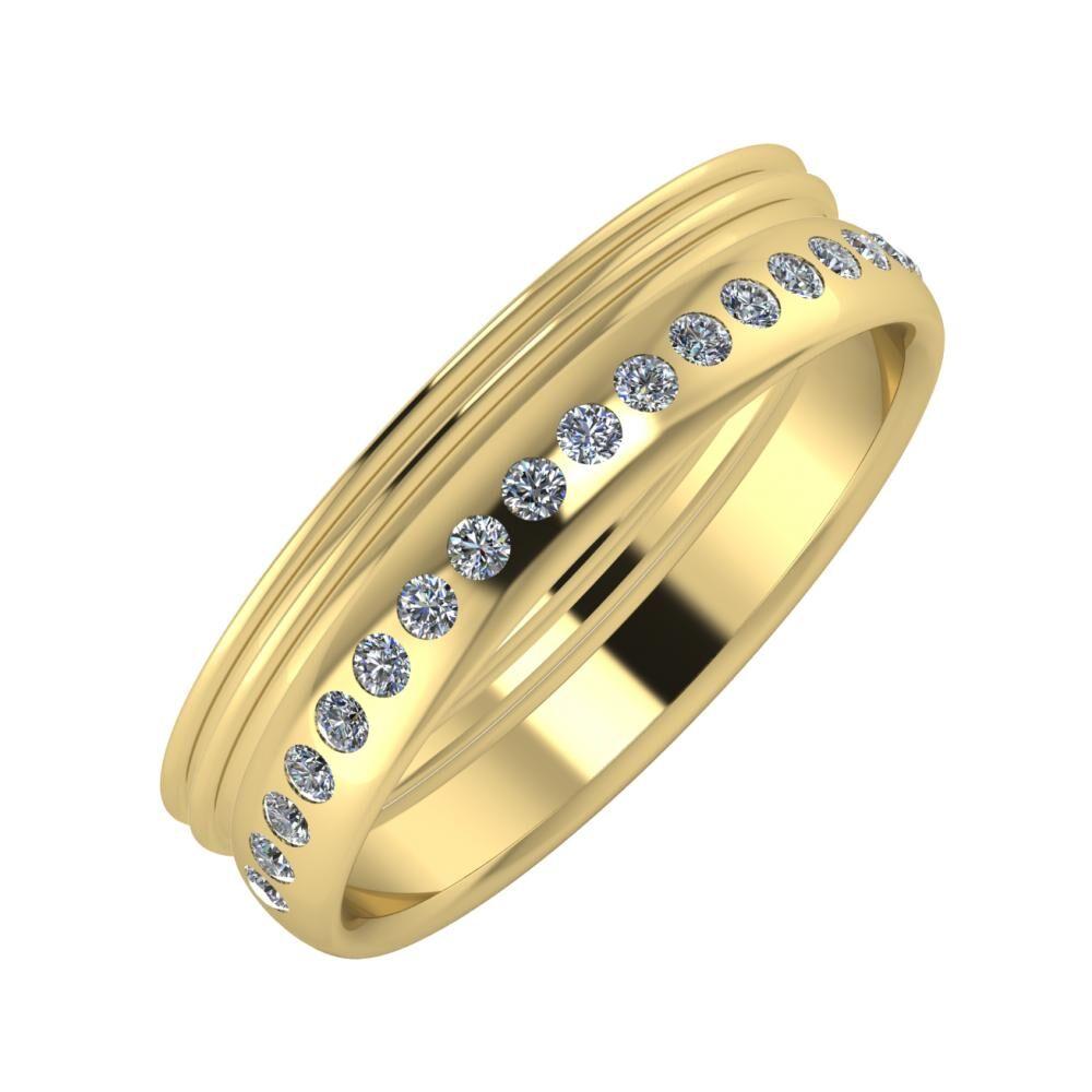 Agrippína - Agrippína - Aldea 5mm 14 karátos sárga arany karikagyűrű