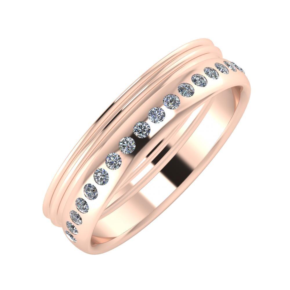 Agrippína - Agrippína - Aldea 5mm 14 karátos rosé arany karikagyűrű