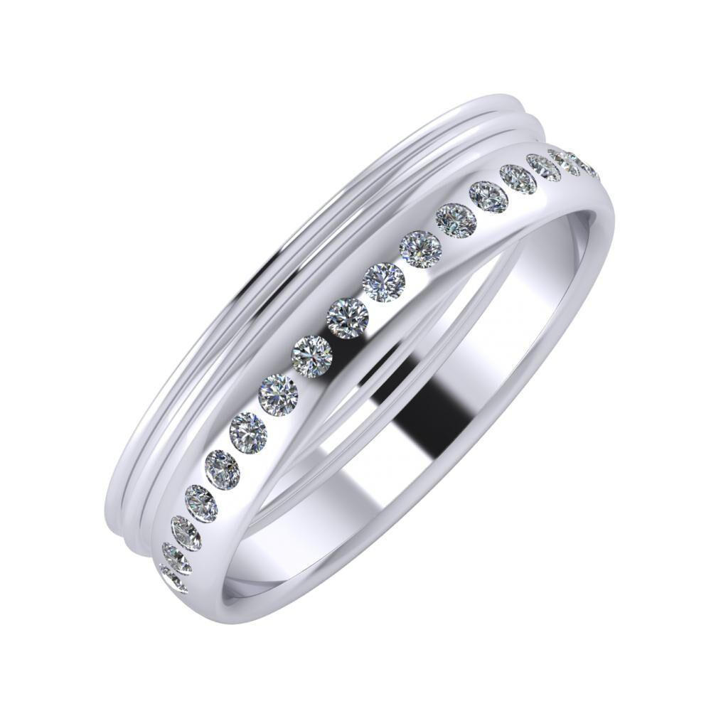 Agrippína - Agrippína - Aldea 5mm platina karikagyűrű