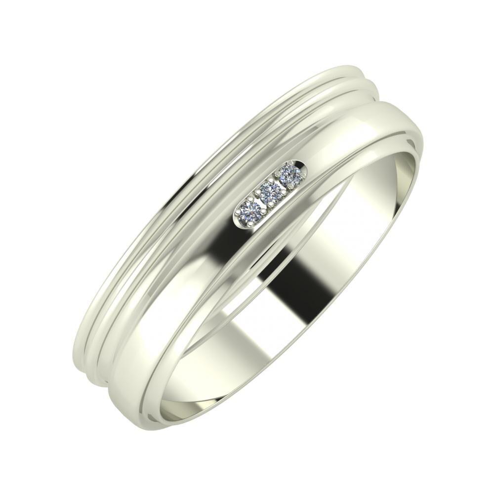 Agrippína - Agrippína - Aleszja 5mm 14 karátos fehér arany karikagyűrű