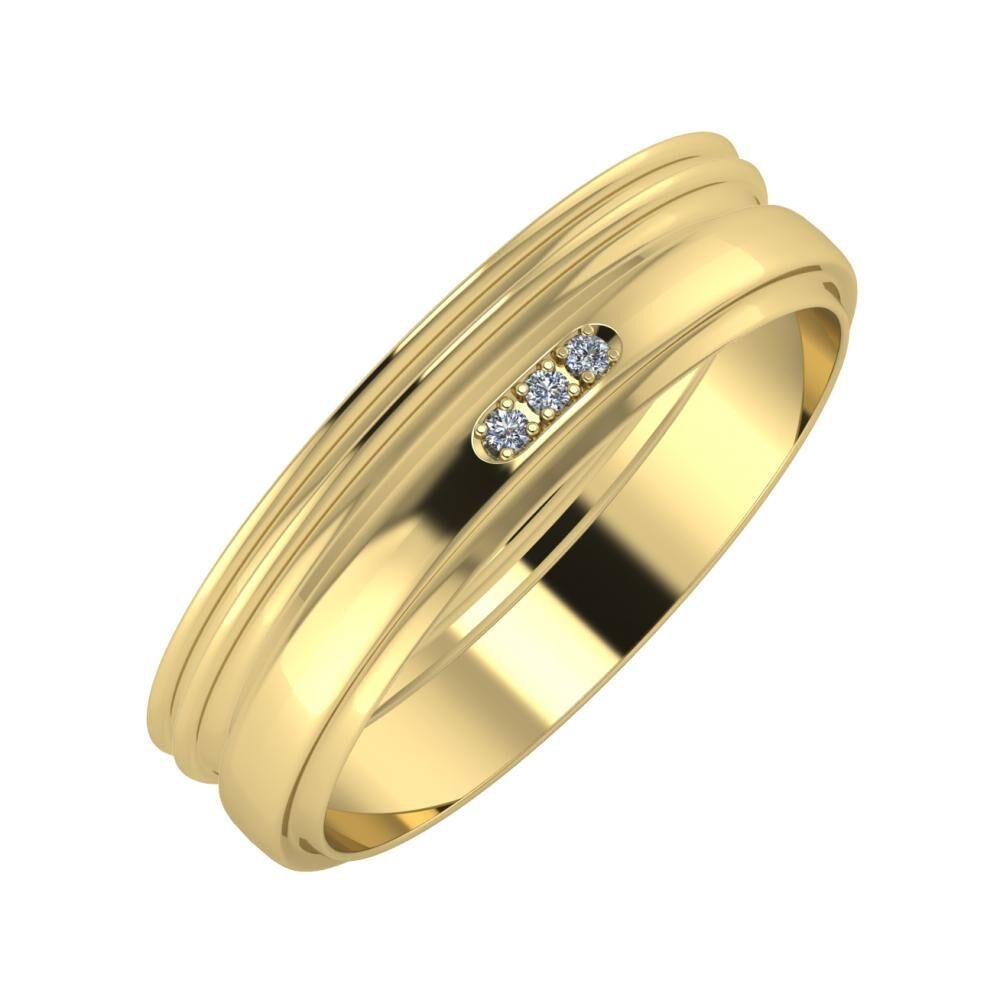 Agrippína - Agrippína - Aleszja 5mm 14 karátos sárga arany karikagyűrű
