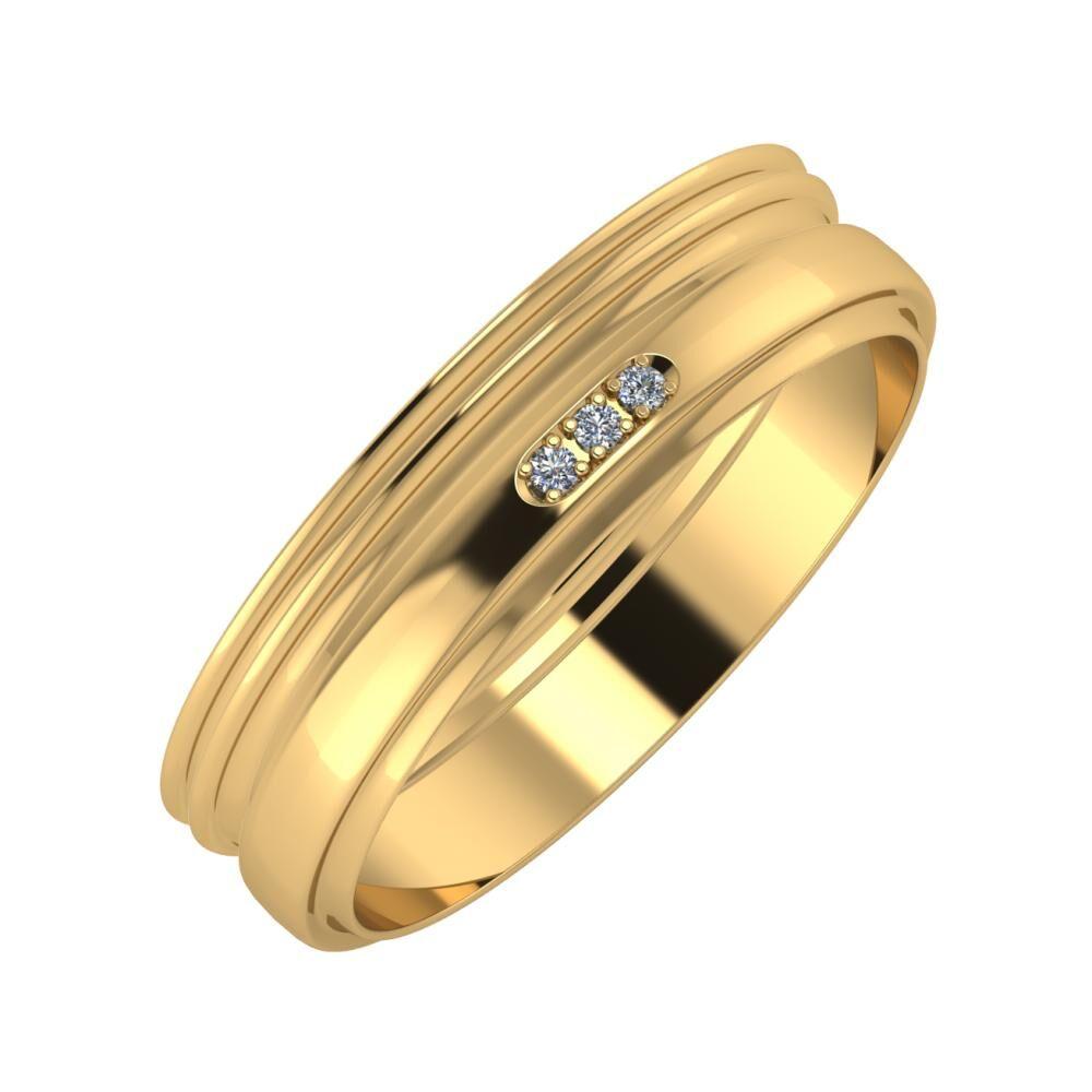 Agrippína - Agrippína - Aleszja 5mm 22 karátos sárga arany karikagyűrű