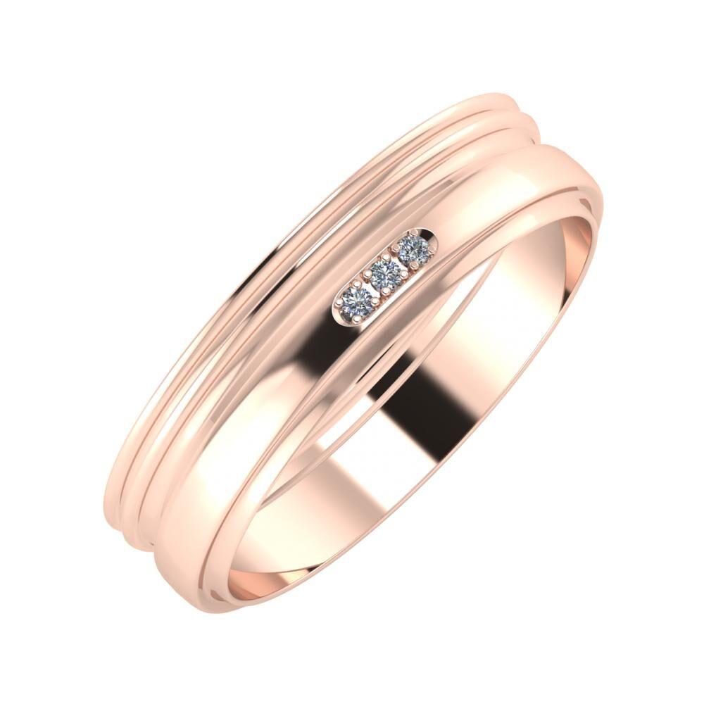 Agrippína - Agrippína - Aleszja 5mm 14 karátos rosé arany karikagyűrű