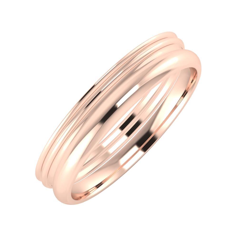 Agrippína - Agrippína - Alett 4mm 14 karátos rosé arany karikagyűrű