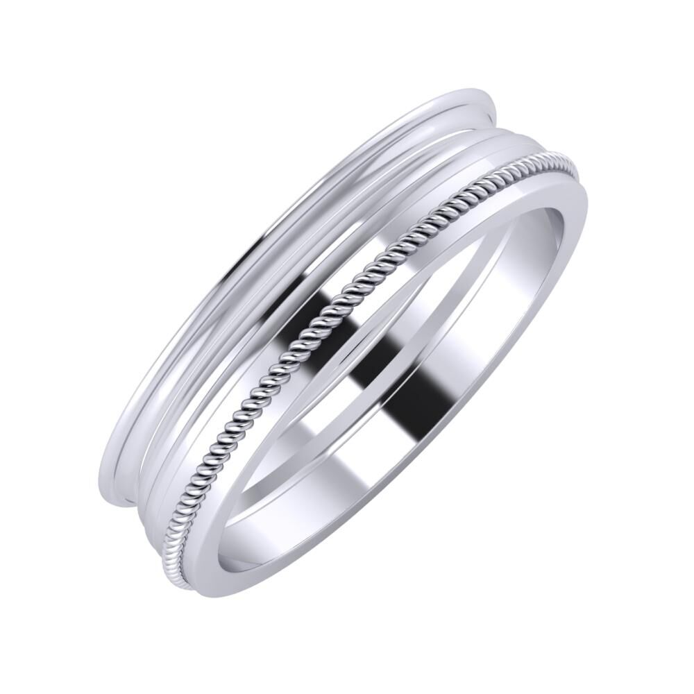 Agrippína - Aida - Afrodité 5mm platina karikagyűrű