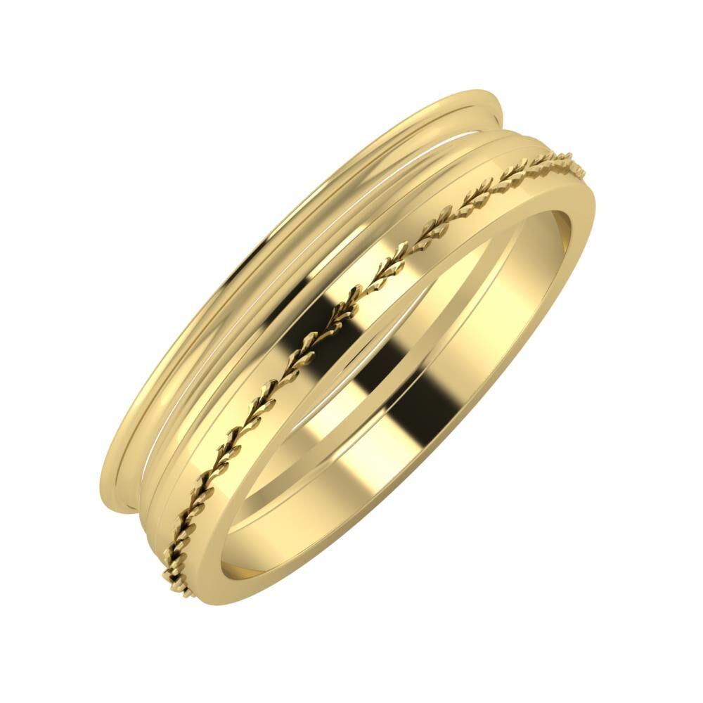 Agrippína - Aida - Aglent 5mm 14 karátos sárga arany karikagyűrű