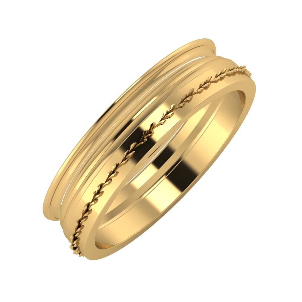 Agrippína - Aida - Aglent 5mm 22 karátos sárga arany karikagyűrű