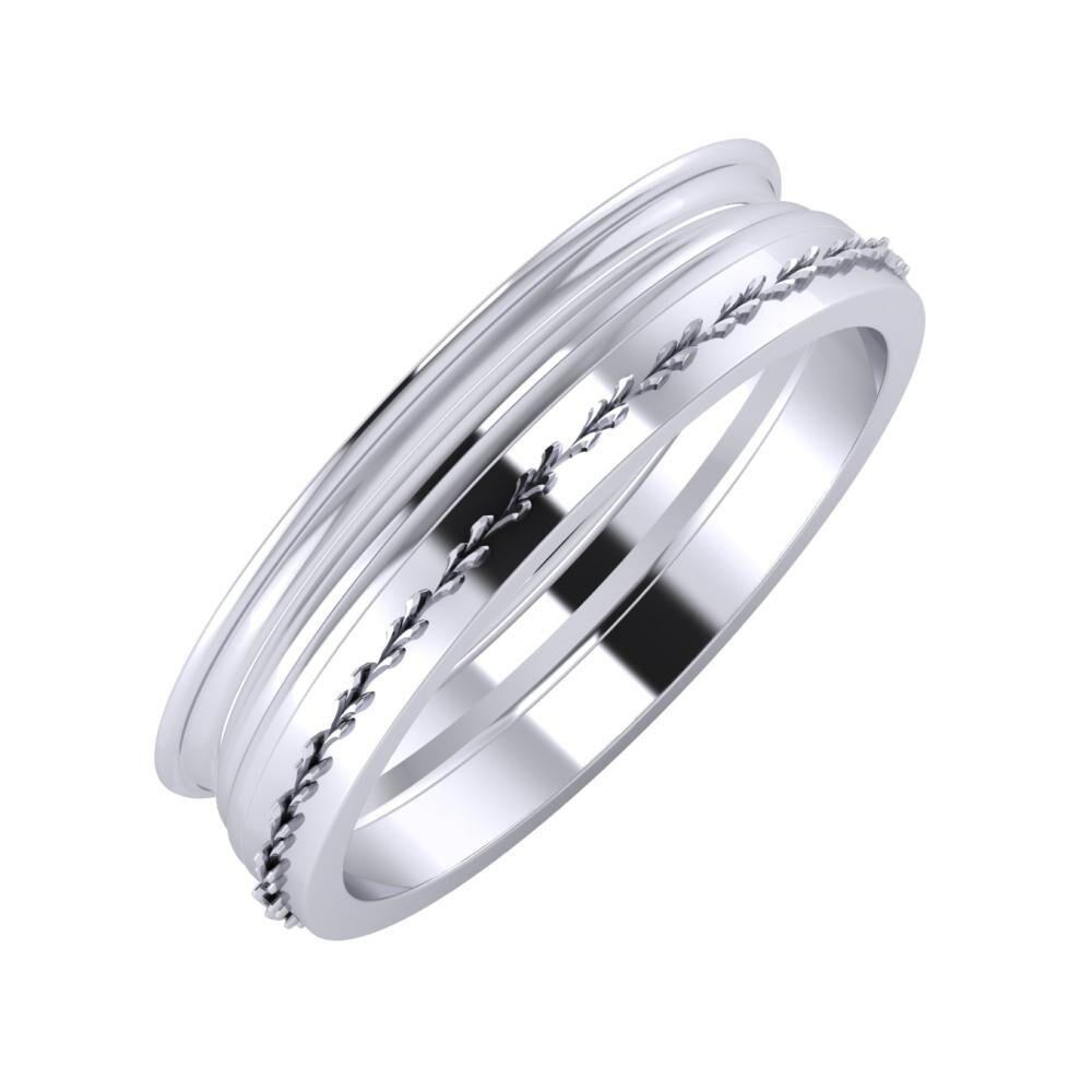 Agrippína - Aida - Aglent 5mm platina karikagyűrű