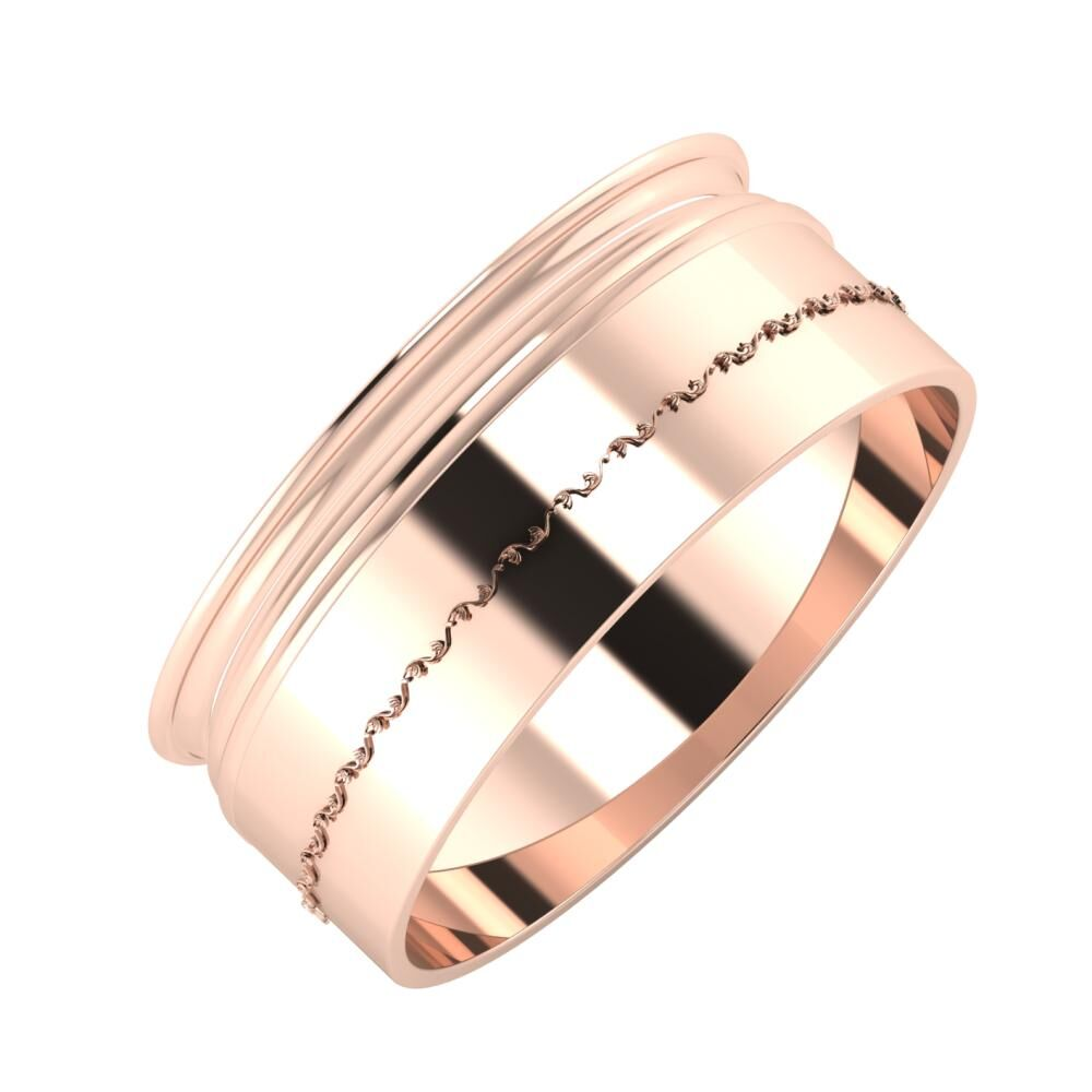 Agrippína - Aida - Agnabella 8mm 18 karátos rosé arany karikagyűrű