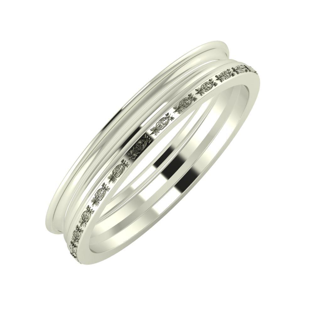 Agrippína - Aida - Agnella 4mm 18 karátos fehér arany karikagyűrű