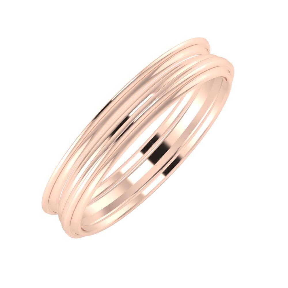 Agrippína - Aida - Agrippína 4mm 18 karátos rosé arany karikagyűrű