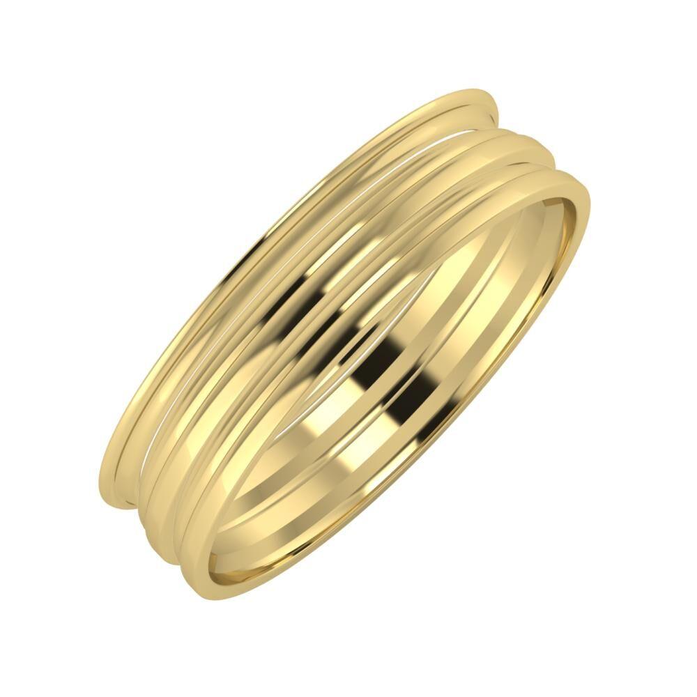 Agrippína - Aida - Aida 5mm 14 karátos sárga arany karikagyűrű