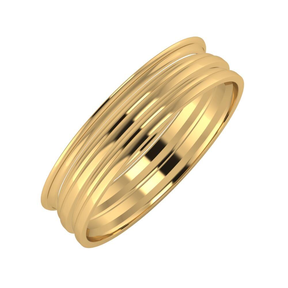 Agrippína - Aida - Aida 5mm 18 karátos sárga arany karikagyűrű