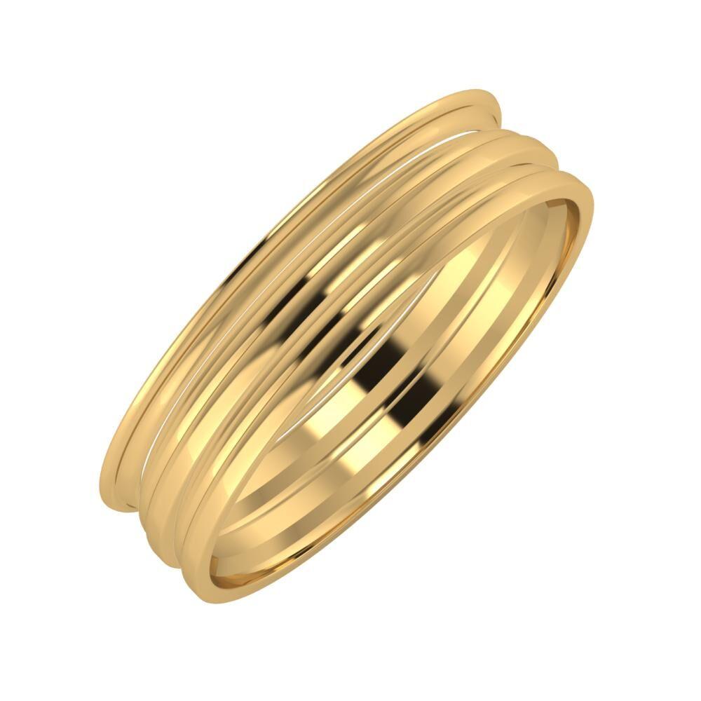 Agrippína - Aida - Aida 5mm 22 karátos sárga arany karikagyűrű