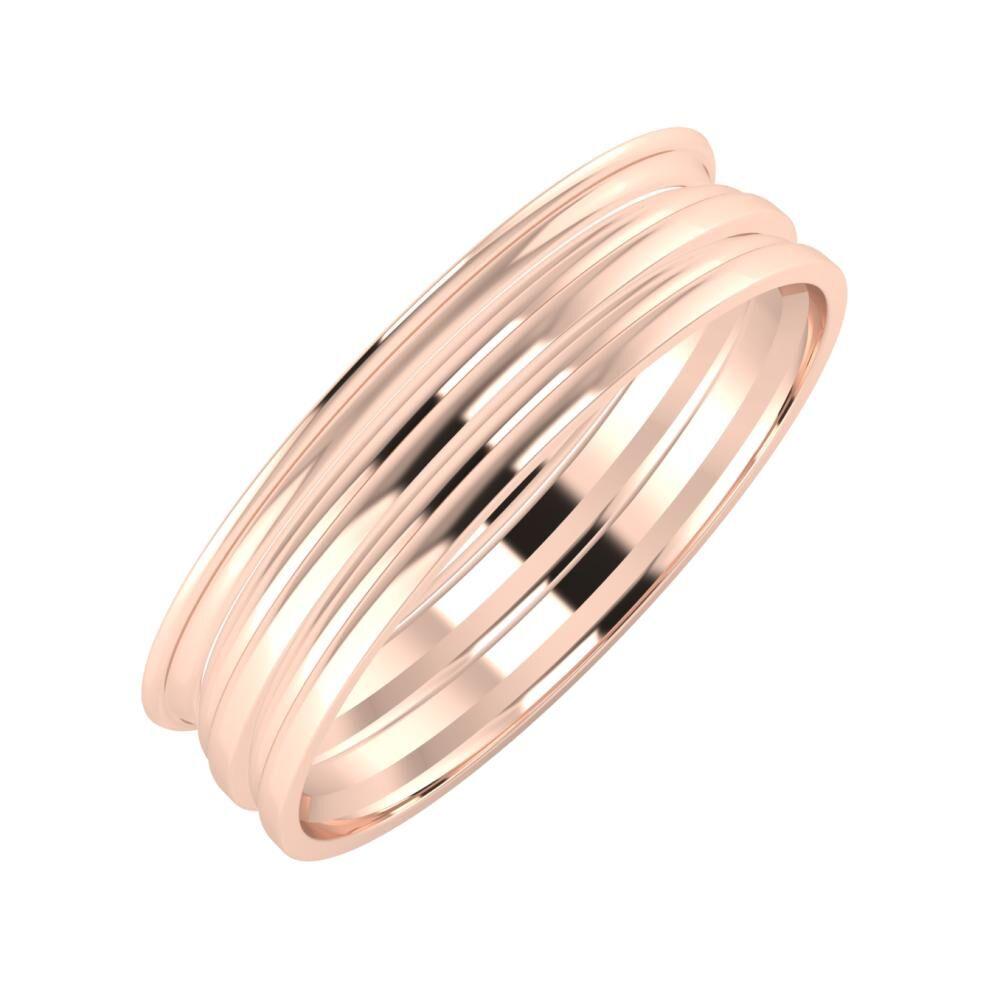 Agrippína - Aida - Aida 5mm 18 karátos rosé arany karikagyűrű