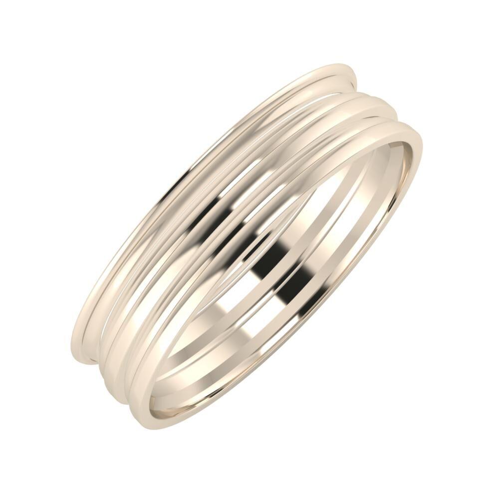 Agrippína - Aida - Aida 5mm 22 karátos rosé arany karikagyűrű