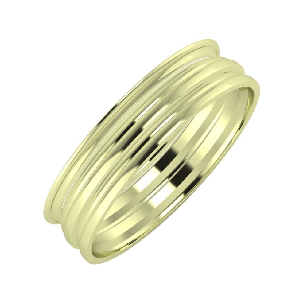 Agrippína - Aida - Aida 5mm 14 karátos zöld arany karikagyűrű