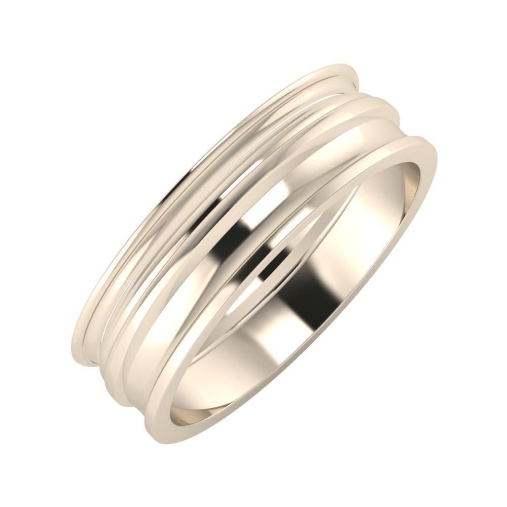 Agrippína - Aida - Ainó 6mm 22 karátos rosé arany karikagyűrű