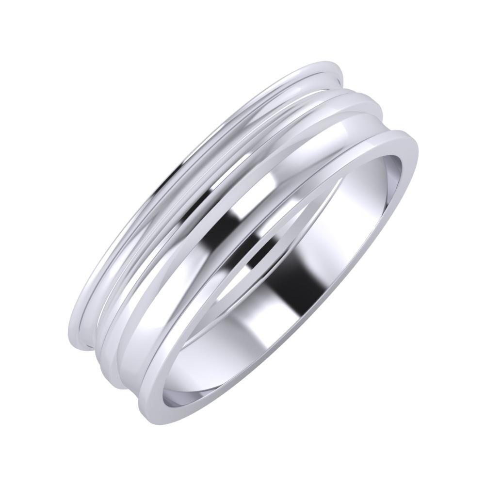 Agrippína - Aida - Ainó 6mm platina karikagyűrű