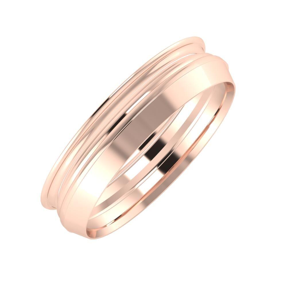Agrippína - Aida - Aisah 5mm 14 karátos rosé arany karikagyűrű