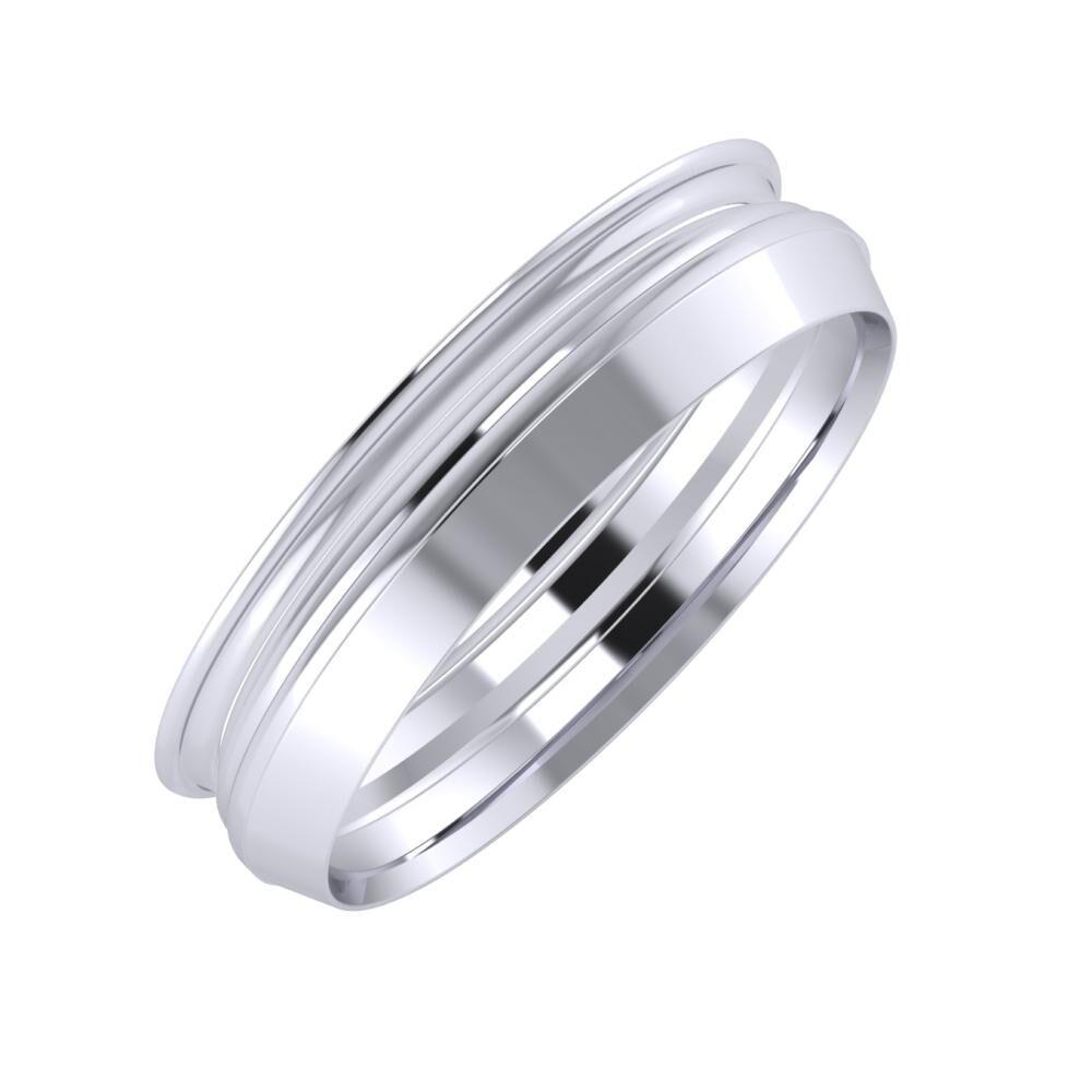 Agrippína - Aida - Aisah 5mm platina karikagyűrű