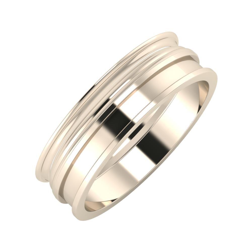 Agrippína - Aida - Ajnácska 6mm 22 karátos rosé arany karikagyűrű