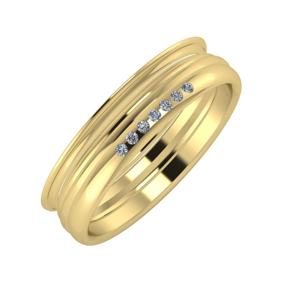Agrippína - Aida - Albertina 5mm 14 karátos sárga arany karikagyűrű