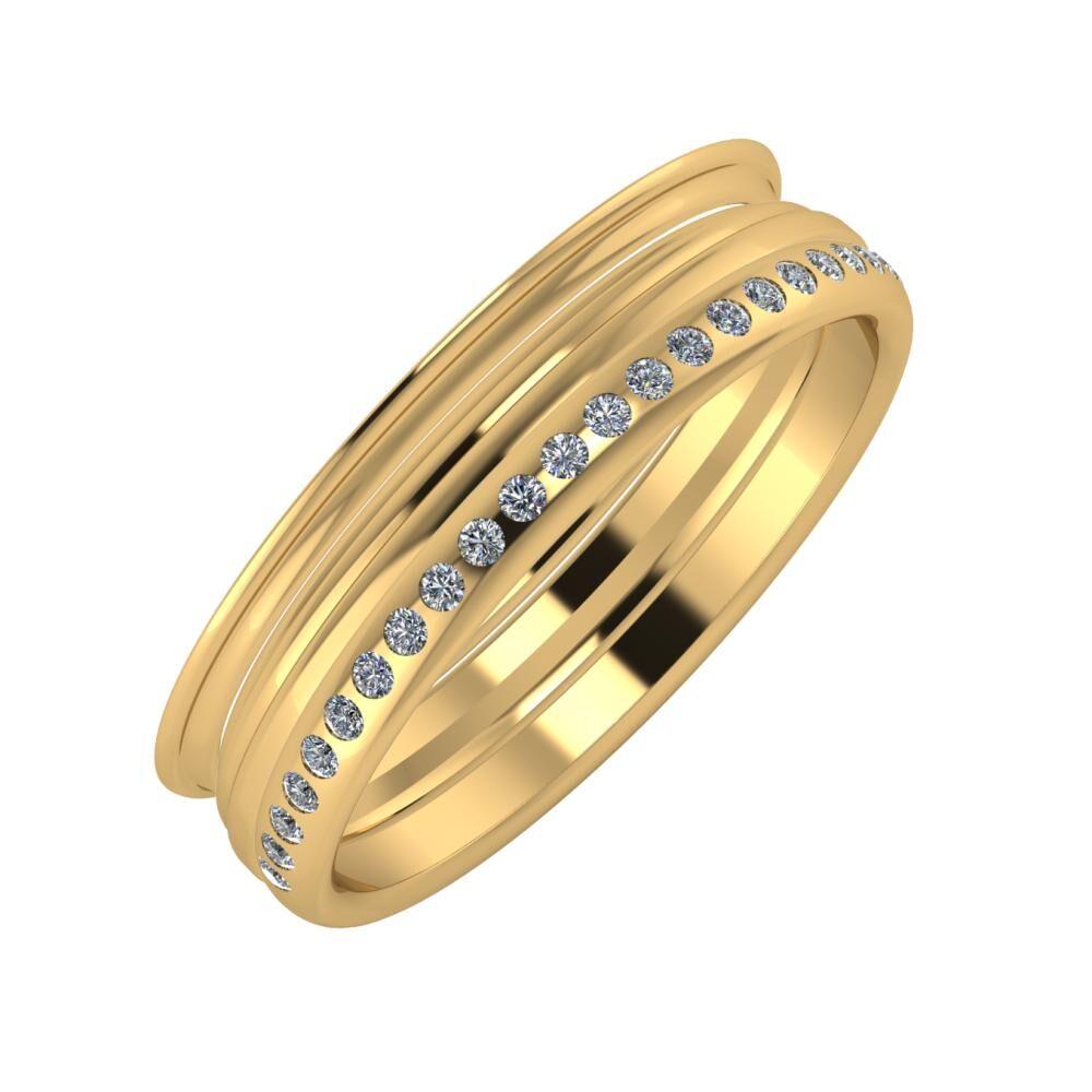 Agrippína - Aida - Aldea 5mm 18 karátos sárga arany karikagyűrű