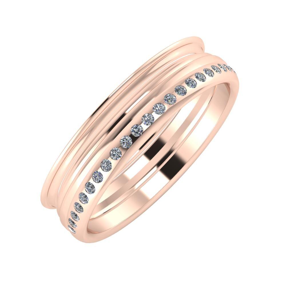 Agrippína - Aida - Aldea 5mm 18 karátos rosé arany karikagyűrű