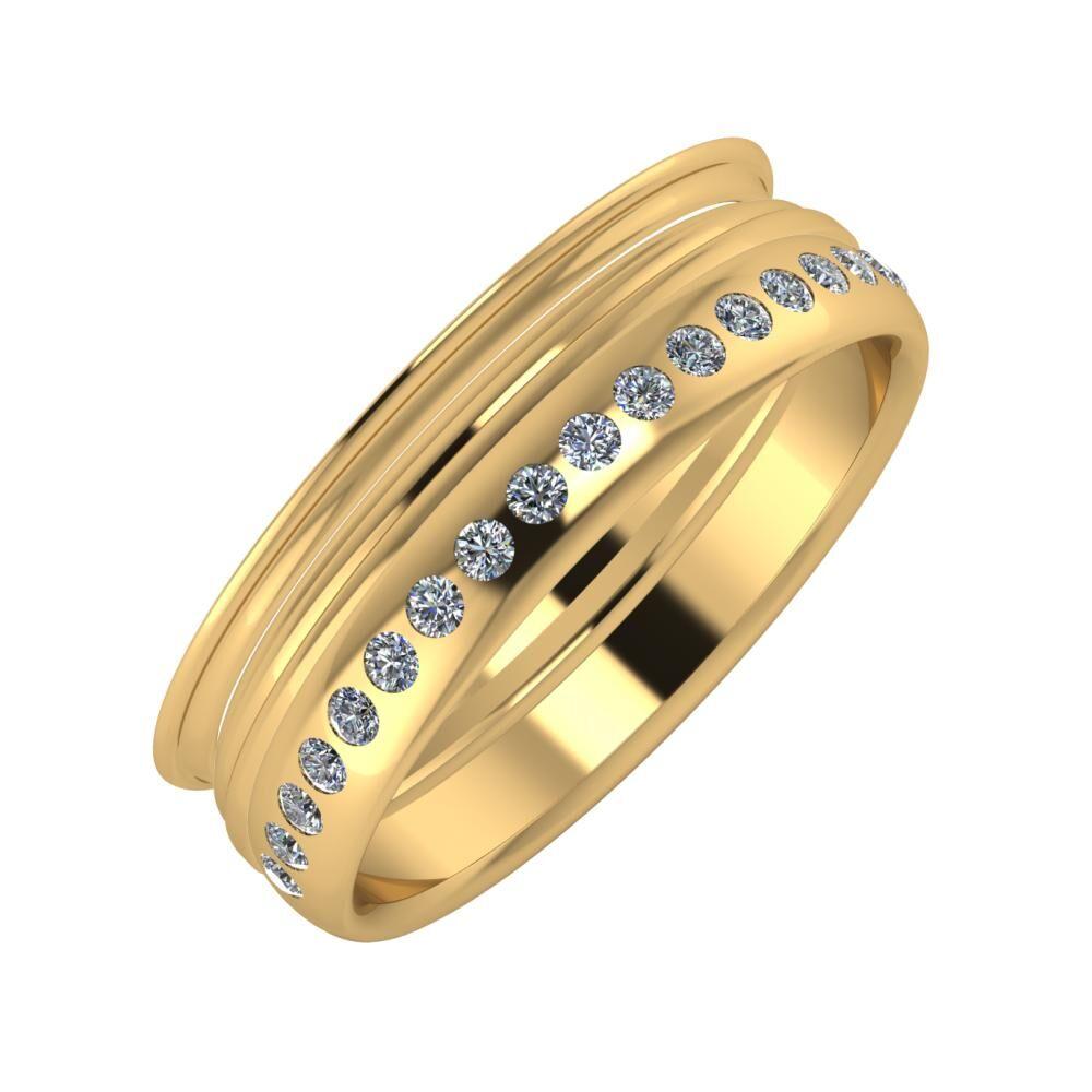 Agrippína - Aida - Aldea 6mm 22 karátos sárga arany karikagyűrű