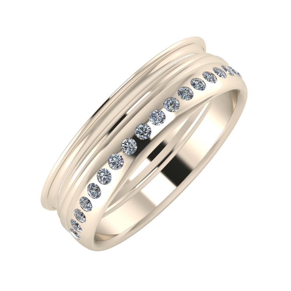 Agrippína - Aida - Aldea 6mm 22 karátos rosé arany karikagyűrű
