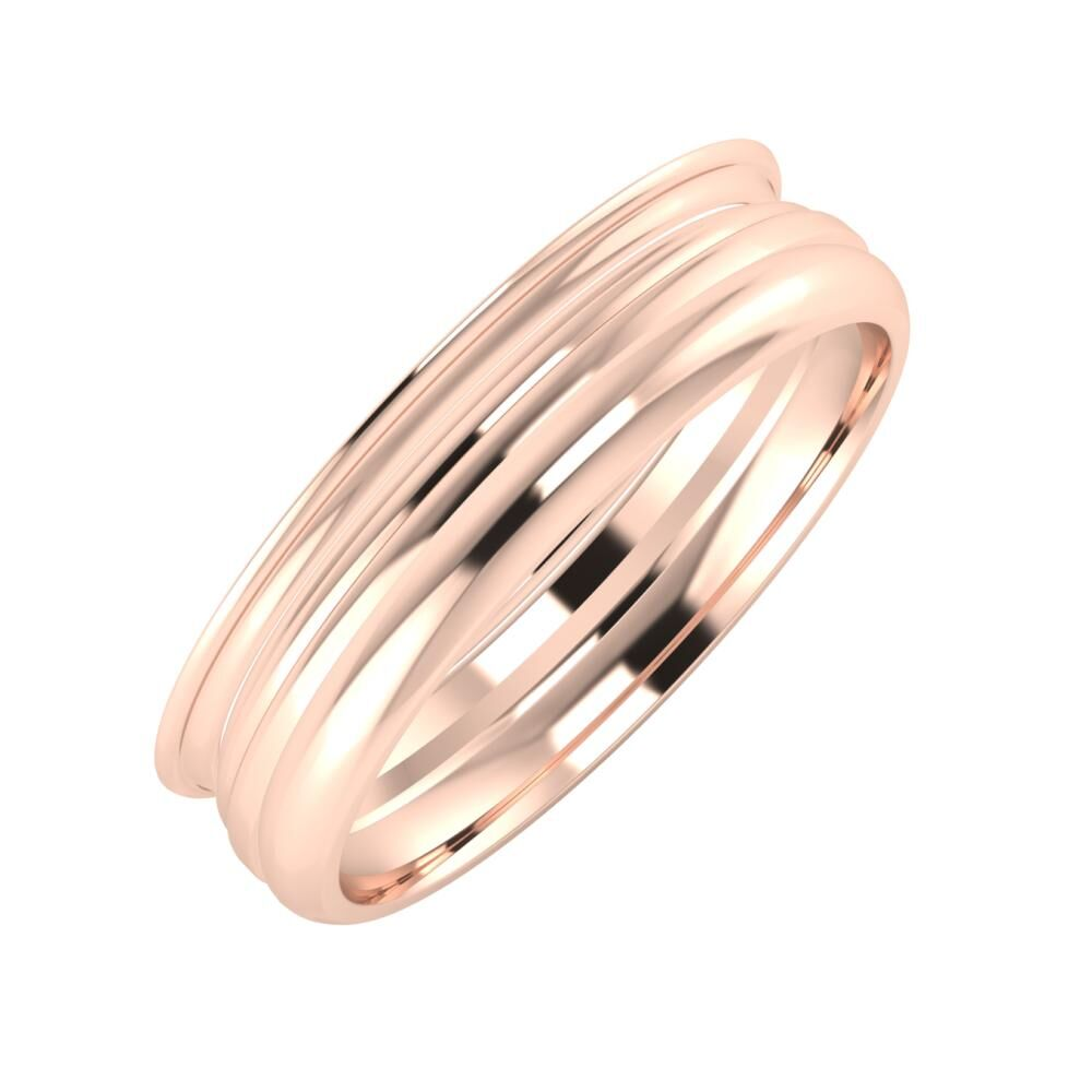 Agrippína - Aida - Alett 5mm 18 karátos rosé arany karikagyűrű