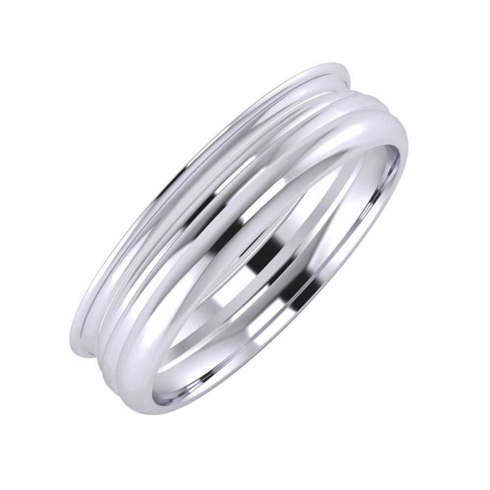 Agrippína - Aida - Alett 5mm platina karikagyűrű