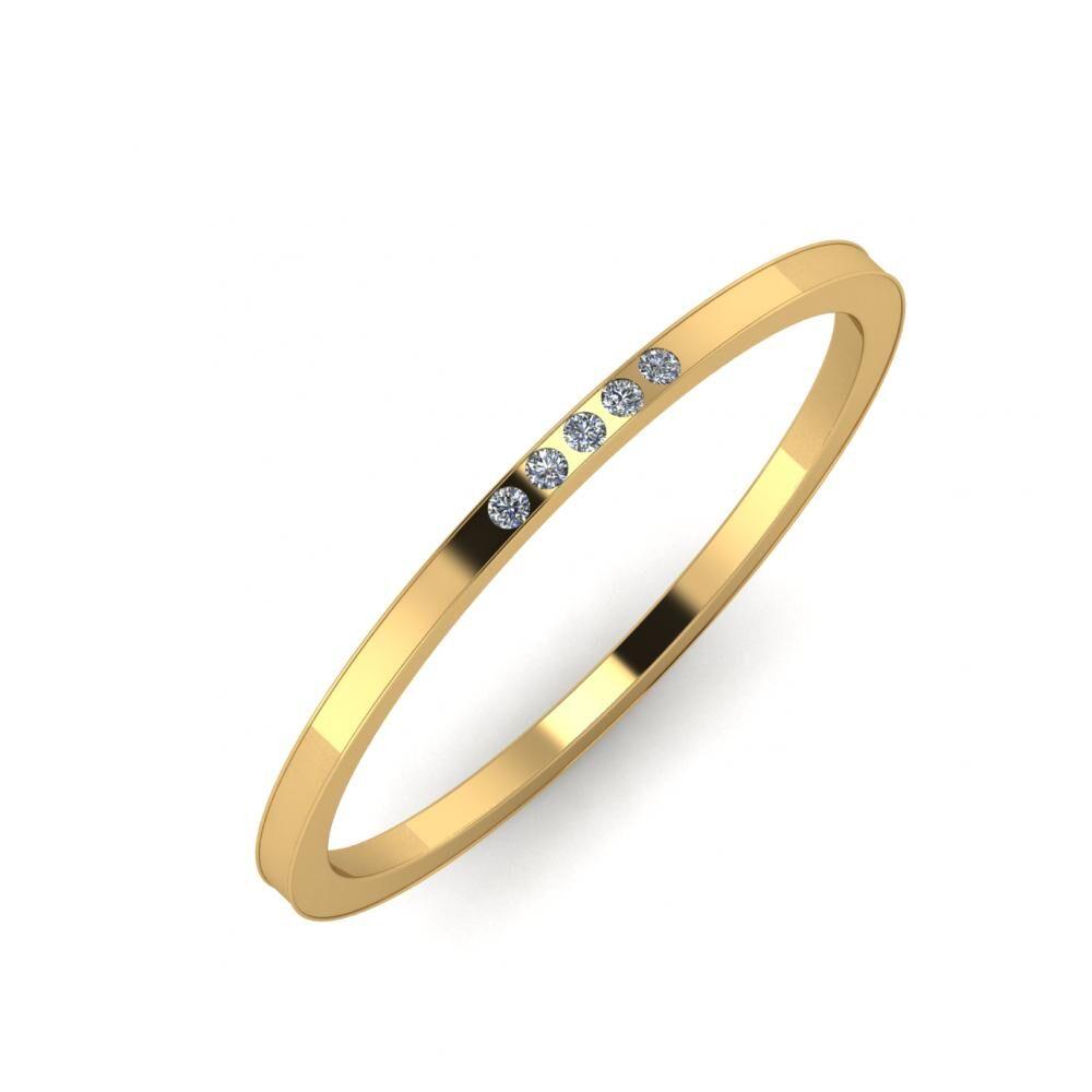 Agrippína - Ainó - Adelaida 5mm 18 karátos sárga arany karikagyűrű