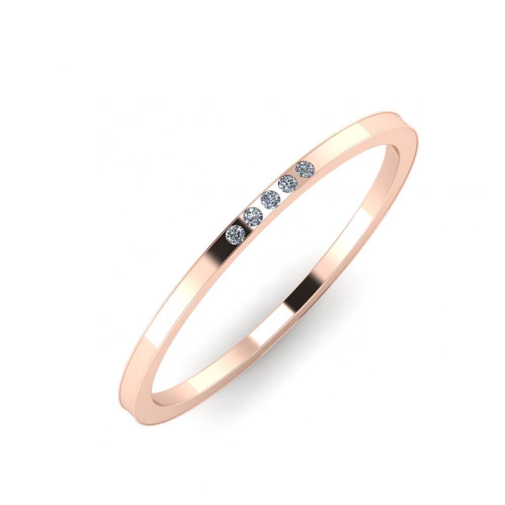 Agrippína - Ainó - Adelaida 5mm 14 karátos rosé arany karikagyűrű