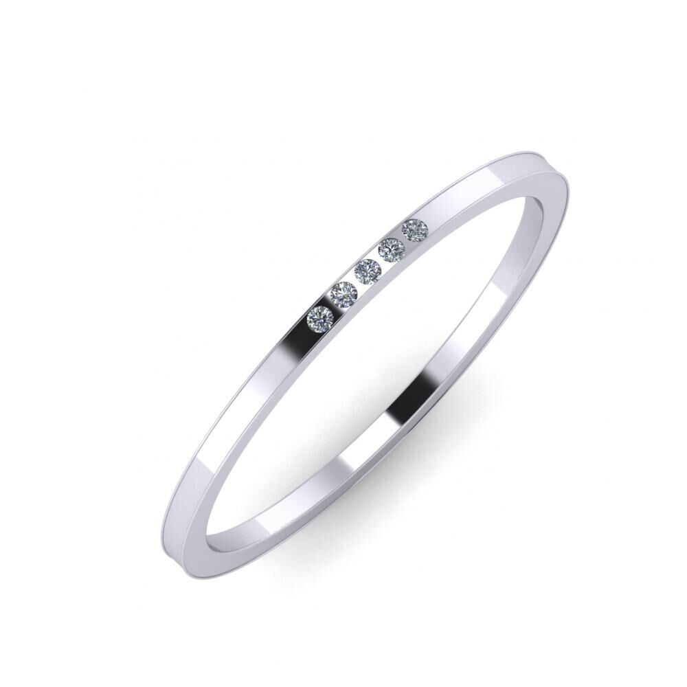 Agrippína - Ainó - Adelaida 5mm platina karikagyűrű