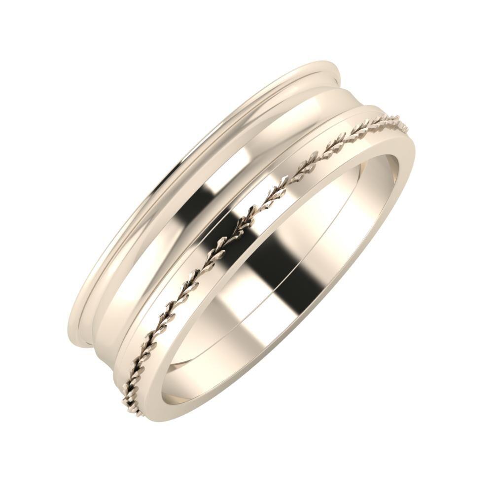 Agrippína - Ainó - Aglent 6mm 22 karátos rosé arany karikagyűrű