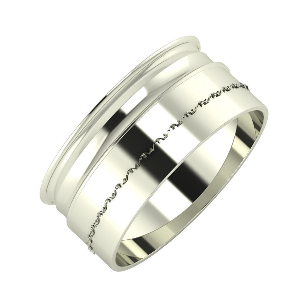 Agrippína - Ainó - Agnabella 9mm 18 karátos fehér arany karikagyűrű
