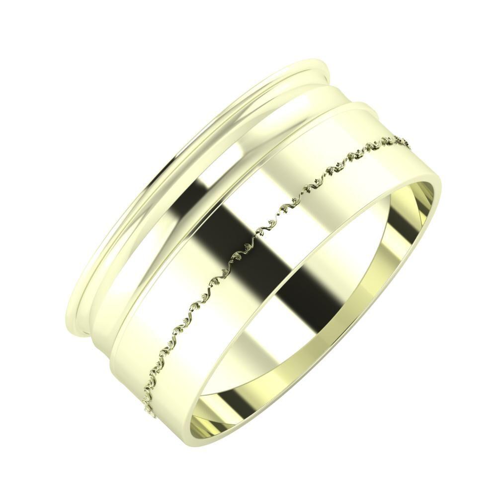 Agrippína - Ainó - Agnabella 9mm 22 karátos fehér arany karikagyűrű