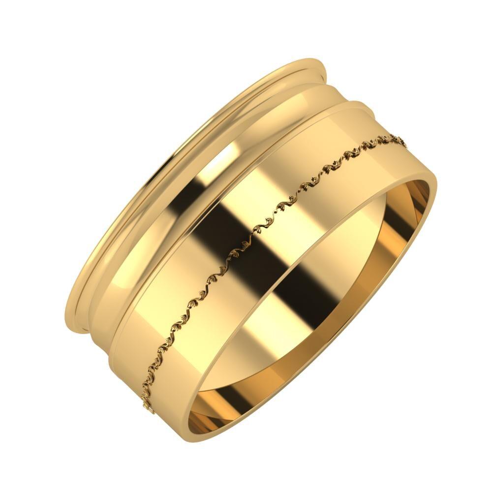 Agrippína - Ainó - Agnabella 9mm 22 karátos sárga arany karikagyűrű